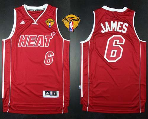 Heat #6 LeBron James Red Pride Swingman Finals Patch Stitched NBA ...